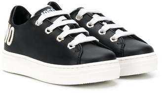 Moschino Kids lace-up logo sneakers