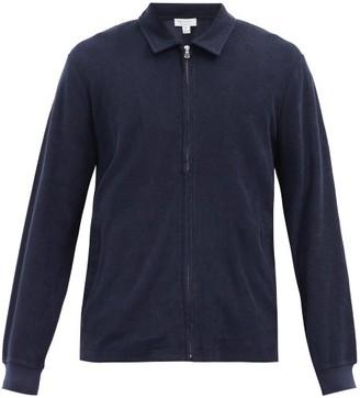 Sunspel Harrington Cotton-terry Jacket - Navy