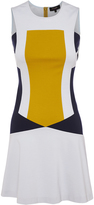 Oxford Amelie Panel Dress Navy/Citrus X
