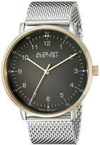 August Steiner Men's AS8091SSG Silver-Tone Stainless Steel Watch