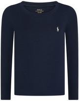 Ralph Lauren Navy Long Sleeve Jersey Top