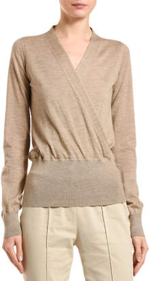 Agnona Cashmere Wrapped-Front Sweater