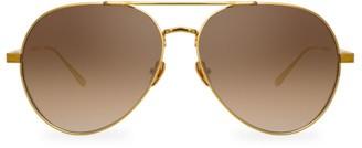 Linda Farrow 792 C4 Oversized Aviator Sunglasses