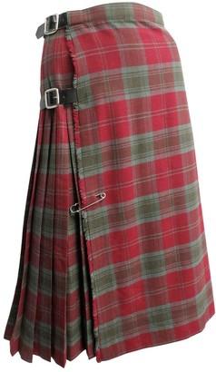 Burberry Burgundy Wool Skirt for Women