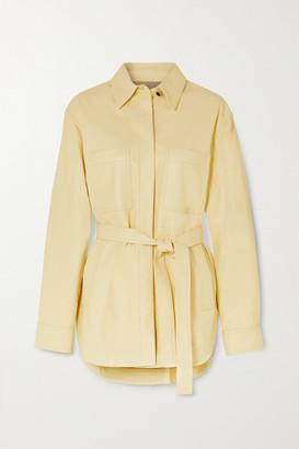Joseph Jent Belted Leather Jacket - Yellow