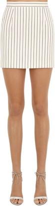 Alessandra Rich Striped Cool Wool Mini Skirt
