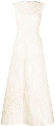 Valentino Pre-Owned 2013 Jaquard-Effect Evening Dress