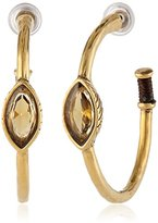 The Sak Stone Center Post Topaz Hoop Earrings