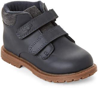 Osh Kosh Toddler Boys) Navy Axyl Double Velcro Boots