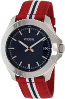 Fossil Men's Retro Traveler AM4479 Two-Tone Nylon Quartz Watch with Dial
