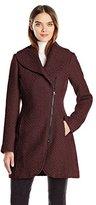 Jessica Simpson Women's Wool Zip up Coat