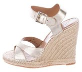 Joie Metallic Espadrille Wedges