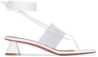 Amina Muaddi Zulu 40mm wrap sandals