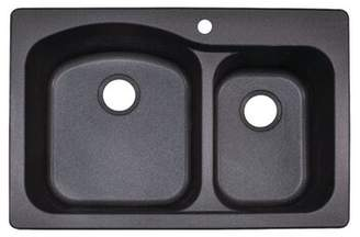 "Franke Gravity Scratch Resistant 33"" L x 22"" W Double Basin Dual Mount Kitchen Sink Finish: Black"