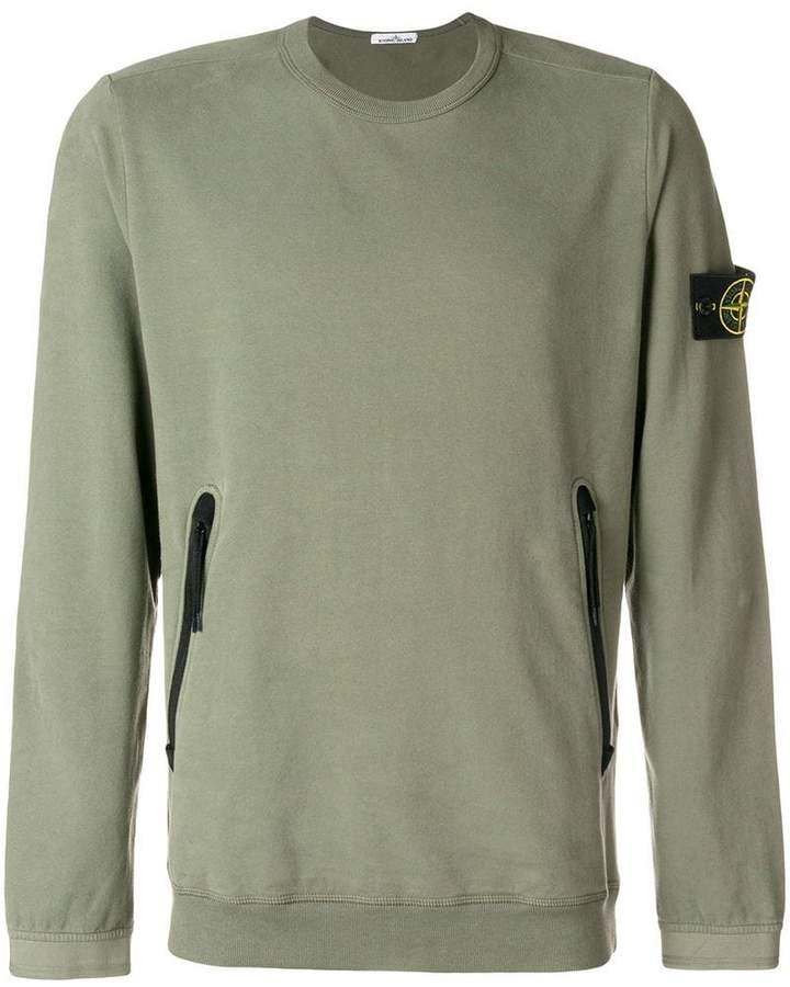 Stone Island zipped pocket sweatshirt