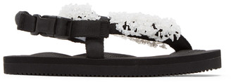 Cecilie Bahnsen Black and White Suicoke Edition Floral Sandal