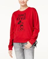 Freeze 24-7 7 7 Juniors' Mickey Graphic Lace-Up Sweatshirt