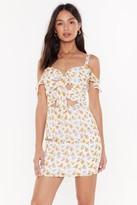 Nasty Gal Womens Let It Grow Bow Mini Dress - White - 6, White