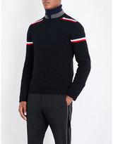 Moncler Stripe-detailed Wool Jumper
