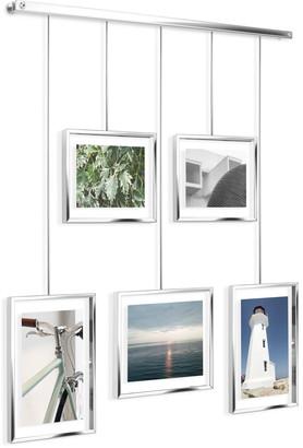Umbra Chrome Exhibit Adjustable Multi Photo Display Frame