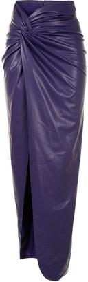 Sally LaPointe Split-Hem Draped Maxi Skirt