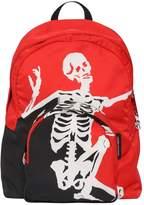 Alexander McQueen Dancing Skelton Printed Nylon Backpack