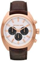 Michael Kors Men's Dean MK8271 Black Leather Analog Quartz Watch with Dial