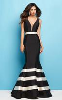 Mac Duggal Flash Spring - 65577 Plunging V-neck Mermaid Dress