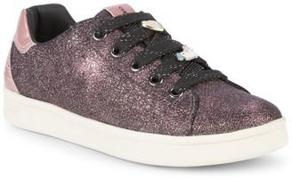 Geox Girl's DJ Rock Glitter Sneakers