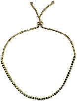 Giani Bernini Black Cubic Zirconia Slider Bracelet in 18k Gold-Plated Sterling Silver, Only at Macy's