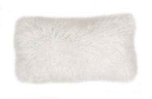 "Thro Keller Faux Mongolian Reverse To Micromink Pillow, 20"" x 12"""