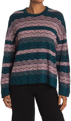 M Missoni Colorblock Striped Pullover Sweater