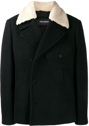Neil Barrett shearling double breasted coat