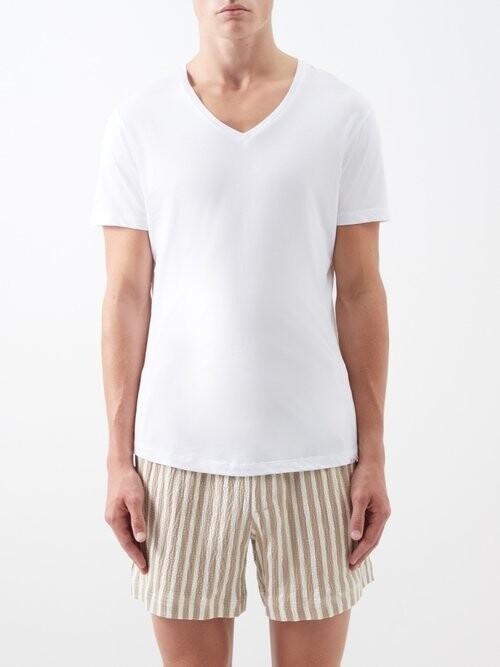 c5bf65f1146 White T-shirt Men V Shaped - ShopStyle