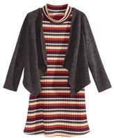 Bonnie Jean 2-Pc. Cardigan & Dress Set, Toddler Girls (2T-5T)