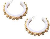 Lele Sadoughi Crystal Block Hoop Earrings