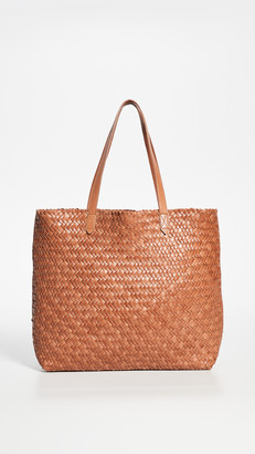 Madewell The Transport Tote: Woven Leather