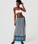 LOFT Beach Floral Medallion Wrap Skirt