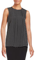MICHAEL Michael Kors Pleated Front Top