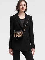 DKNY Blazer With Faux Leather Trim
