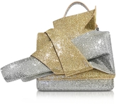N°21 Silver and Gold Glitter Crossbody Bag w/Iconic Bow On Front