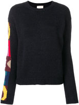 Semi-Couture Semicouture branded sleeve knitted sweater