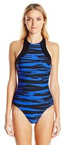 Seafolly Women's Fastlane High Neck Maillot One Piece Swimsuit