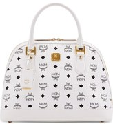 MCM 'Medium Heritage' Coated Canvas Bowler Bag