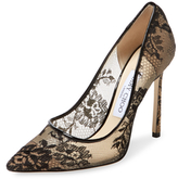 Jimmy Choo Romy 110 Lace Pointed-Toe Pump