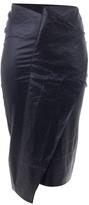 Ann-Sofie Back Coated linen skirt with fold