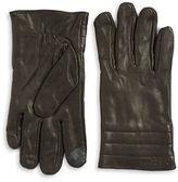 Calvin Klein Quilted Cuff Leather Gloves