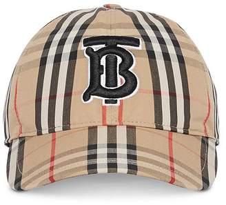 Burberry Monogram Check Baseball Cap