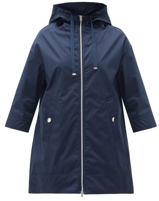 Herno Evolution Coated-twill Coat - Womens - Navy