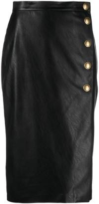 Pinko Button-Detail Midi Skirt